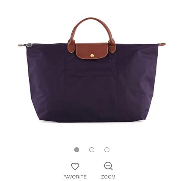 aeb6685f531c Longchamp Le Pliage Purple Large Duffel